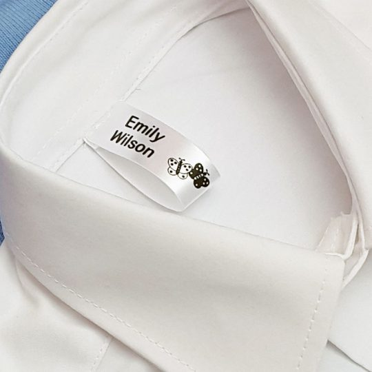 Sew-in label on blouse