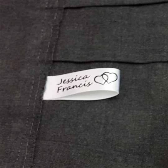Sew-in label in skirt