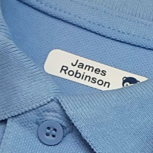 iron on name tapes for clothing for school uniform